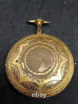 Antique verge fusee pocket watch