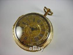 Antique very rare English Verge Fusee key wind pocket watch. Runs great! C. 1690