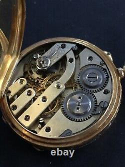 Antiques 15 Ct Solid Gold Pocket Watch Working order