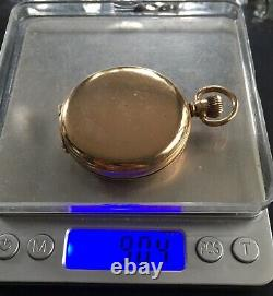 Antiques 9 Ct Solid Gold Full Hunter Pocket Watch By Jas. Pascoe Working
