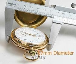 BIG 57mm 18K SOLID GOLD ANTIQUE QUARTER REPEATER CHRONOGRAPHE POCKET WATCH