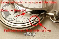 BIG Gold 1898 Elgin BW Raymond RAILROAD Grade Pocket Watch Heavy 18s Antique USA
