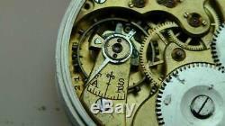 Bargain IWC Schaffhausen antique pocket watch skeleton back