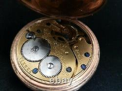 Beautiful Antique Gold Plated Full Hunter Pocket Watch by Thomas Russell & Son