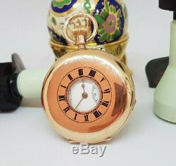 Beautiful Antique Half-hunter Solid 9k Gold J. W. Benson Pocket Watch