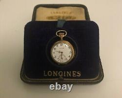 Beautiful Ladies Longines Pocket Watch in Amazing Box! C1910 and Running