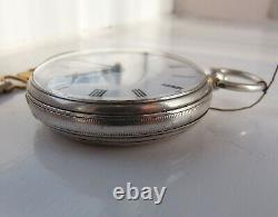 Beautiful London made fusee pocket watch 1867 with Edinburgh signature