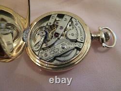 Beautiful Vacheron+ Constantin 14ct Gold Filled Hunter Pocket Watch 25 Yr Case