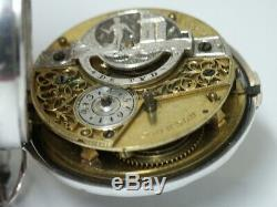 C1770's LARGE SHAGREEN & SILVER PAIR CASE VERGE FUSEE POCKET WATCH. PRISTINE