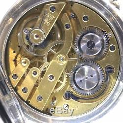 C1900 Antique Complicated Swiss Date Moon Phase Pocket Watch