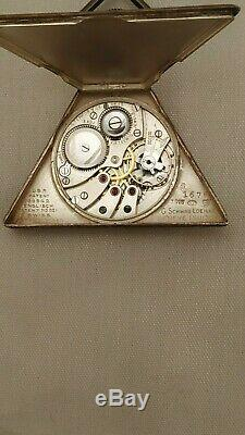 COLLECTIBLE ANTIQUE MASONIC POCKET TEMPOR WATCH Ca 1910 WORKING SUPER RARE