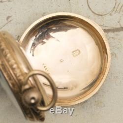 CONCEALED EROTIC AUTOMATON / REPEATER REPEATING 18k GOLD Antique Pocket Watch