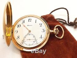 Doxa Incredible Antique 14k Solid Gold Pocket Watch Medaille D'or. Milan 1906