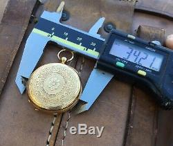 Early 1870s Solid 18k Antique Patek Philippe Ladies Full Hunter Pocket Watch