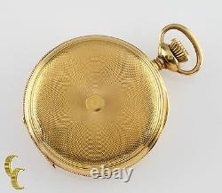 Elgin Antique Mini Hunter 18K Yellow Gold Pocket Watch Gr 208 Size 0 7 Jewel