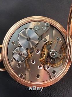 Exceptional Antique Solid 9ct Gold Half Hunter Pocket Watch 91.2g