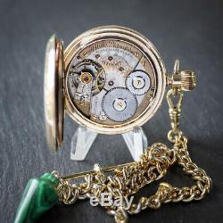 Fabulous Antique Victorian Waltham 17 Jewel Full Hunter Pocket Watch + Box