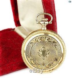 Fine Antique 1908 American Waltham Keystone 14K Gold Pocket Watch with Box