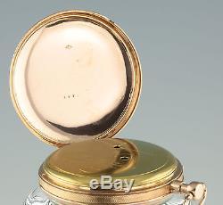 Freres Melly à Paris174g 18k Gold 8 Day ¼ Repeater Pocket watch taschenuhr