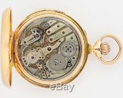 GORGEOUS Antique Henri Capt 18k Yellow Gold Quarter Repeater Pocket Watch! Runs