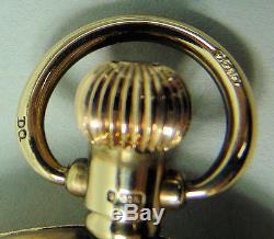 Gents Antique 9k Gold Half Hunter Pocket Watch Birmingham 1924