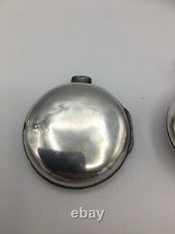 Georgian Pair Cased Verge Fusee Silver Pocket Watch Case William Howard 1809 A/F