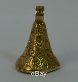 Georgian Yellow Gold & Pear Shaped Bloodstone Pocket Watch Fob Pendant t0423