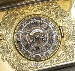 German XVIIIc. Silver Snuffbox Watch Antique Verge Fusee Watch SPINDELTASCHENUHR