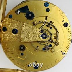 Gold Antique Pocket Watch Spring detent chronometer Barraud, c1815