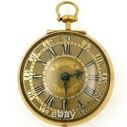 Gold Antique Pocket Watch Verge, Charles Goode, London, 1728
