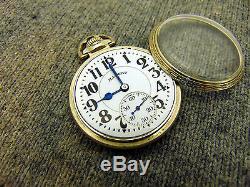 H1C Illinois BUNN SPECIAL Grade 161A 60hr. Elinvar 16s 21j Antique Pocket Watch