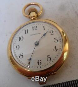 HTF SOLID 18k Gold Antique 1904 Waltham 16 Jewel Adjusted Pocket Watch
