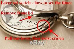 HUGE Gold 1900 Waltham 21 Jewel Vanguard RAILROAD Grade 18s Antique Pocket Watch