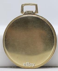 Hamilton 921 Pocket Watch 21 Jewel 14K Solid Gold Antique Runs Perfect LE053
