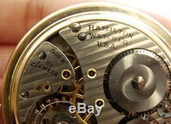 Hamilton 992B 21 Jewel RR Railroad Size 16 Antique/VTG Pocket Watch