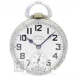 Hamilton 992B RAILWAY SPECIAL 21 Jewel Mechanical Pocket Watch 16s Antique