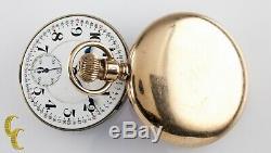 Hamilton Open Face Gold Filled Antique Pocket Watch Grade 992 16S 21 Jewel