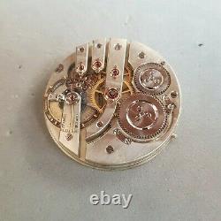 Henri Henry Moser antique pocket watch movement 1890 43mm