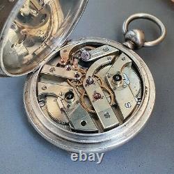 Henry Moser Faberge-type double barrel 8-ds original antique pocket watch