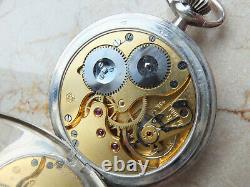 IWC Schaffhausen cal. 57T antique open face silver pocket watch two-tone dial