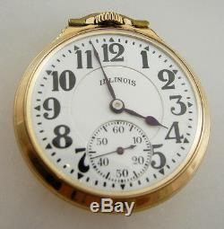 Illinois Bunn Special 21 Jewel Railroad RR Antique/VTG Pocket Watch