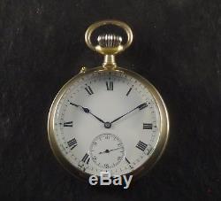 Iwc Schaffhausen Chronometer Grade Visible Movement Antique Pocket Watch N. Mint