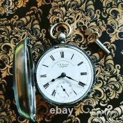 J. G. Graves Sheffield Antique Silver Pocket Watch Works. Early 20c. England
