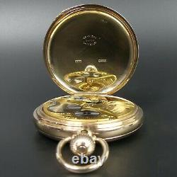 J. W. Benson 9 Ct Gold Full Hunter Pocket Watch Birm. 1920 In Good Working Order