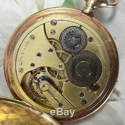 LONGINES ANTIQUE POCKET WATCH 14K Yellow, SOLID GOLD 1910 Grand Prix 51mm 25S