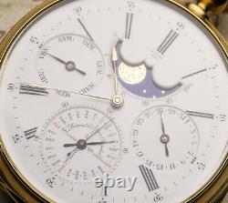 LOUIS AUDEMARS PERPETUAL CALENDAR REPEATER Gold Antique REPEATING Pocket Watch