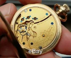 Ladies Antique 14K Solid Gold Waltham Full Hunter Pocket Watch 1899AD