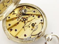 Late 1800s Antique Fine Silver Pocket Watch Key Wound Movement LAYBY AVAIL