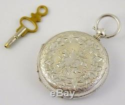 Late 1800s Antique Full Hunter. 800 Swiss Hallmarked Silver Pocket Watch LAYBY