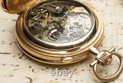Le Phare MINUTE REPEATER CHRONOGRAPH Gold Antique Repeating Pocket Watch